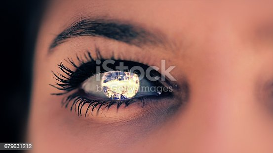652426098 istock photo Abstract techno eye background 679631212