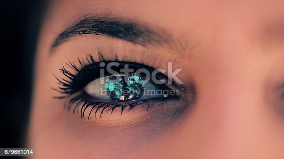 652426098 istock photo Abstract techno eye background 679661014
