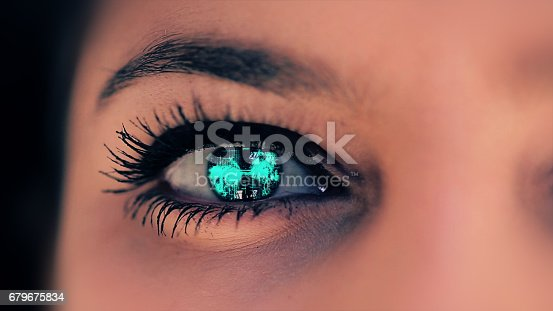 652426098 istock photo Abstract techno eye background 679675834