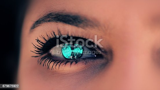652426098 istock photo Abstract techno eye background 679675922