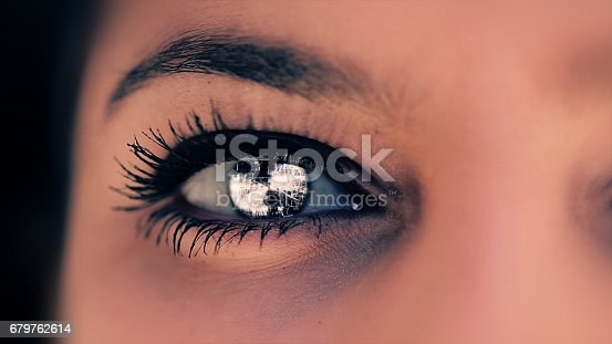 652426098 istock photo Abstract techno eye background 679762614