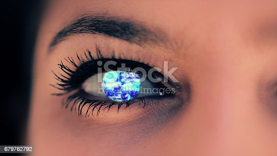 652426098 istock photo Abstract techno eye background 679762792