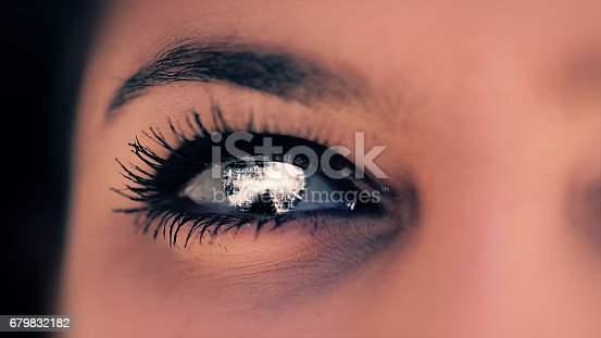652426098 istock photo Abstract techno eye background 679832182