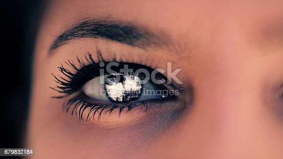 652426098 istock photo Abstract techno eye background 679832184