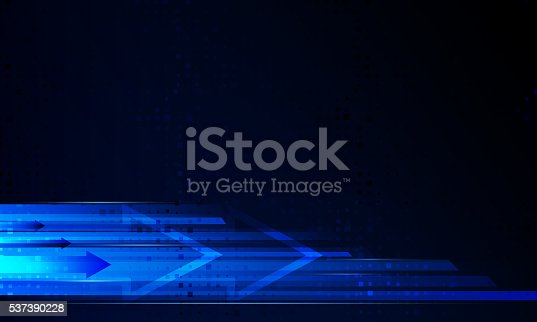 537390268 istock photo Abstract technological background is of the arrows and stripes.V 537390228