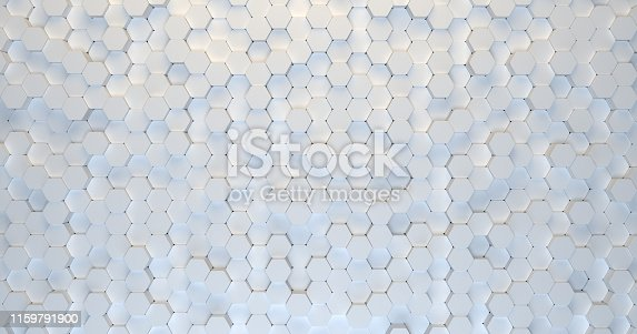 626187518istockphoto Abstract technological hexagonal background. 3d rendering. Geometric pattern. Graphic design elementfor wallpaper. Modern business card template 1159791900