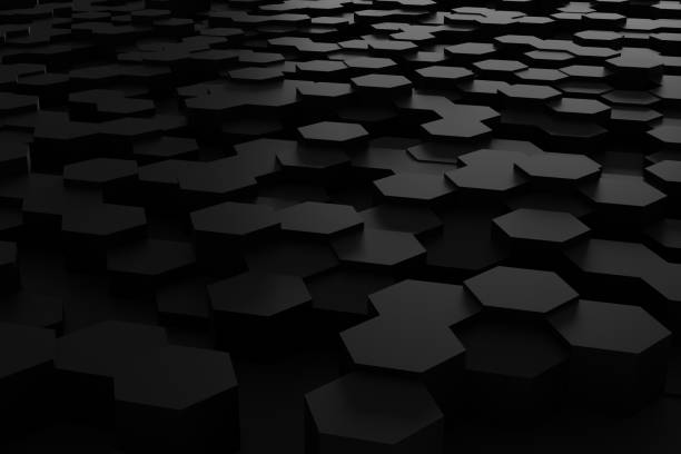 Abstract technological hexagonal background stock photo