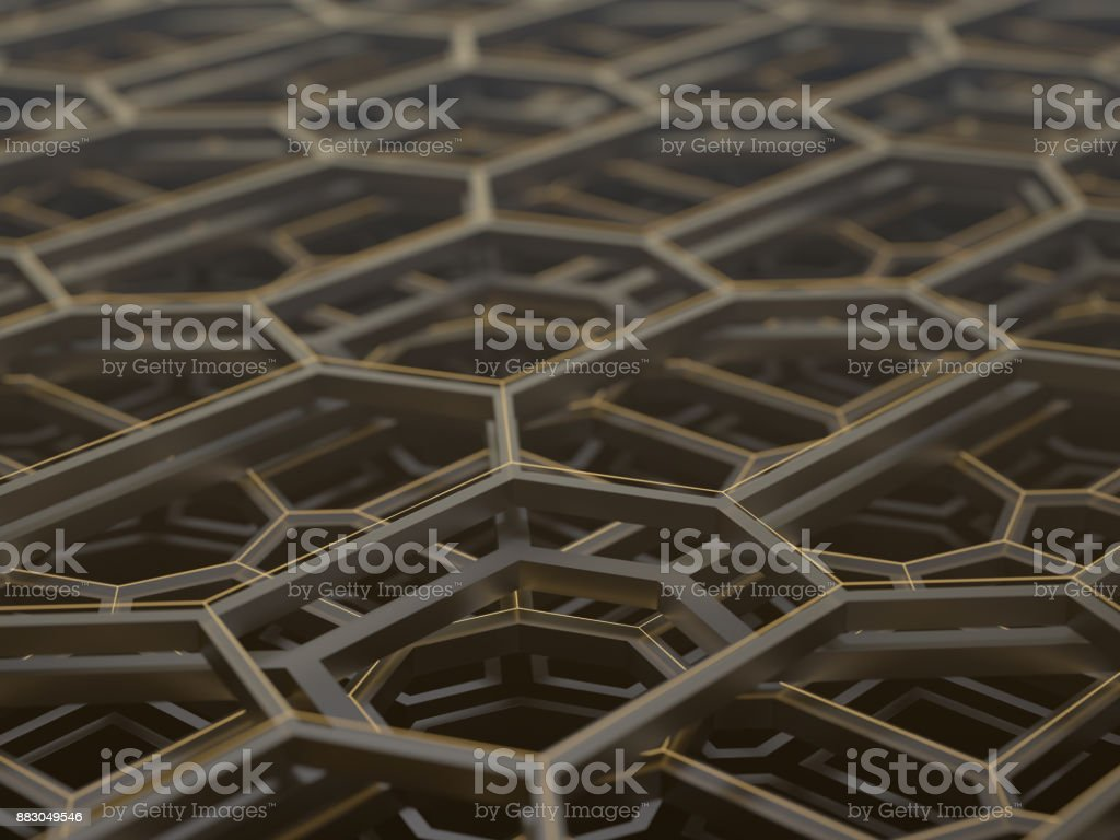 Abstract Technological Structure stock photo
