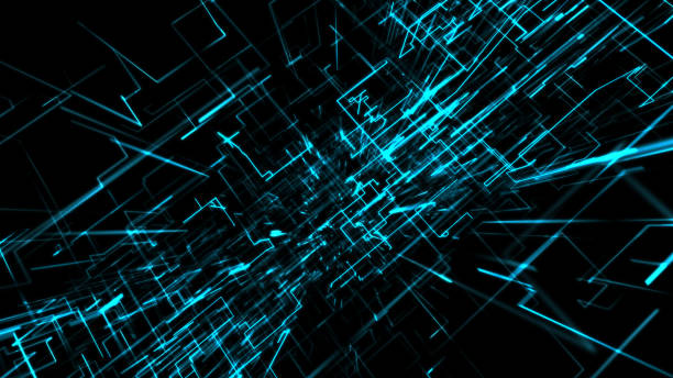 Abstract Technology Background. 3D elements stock photo