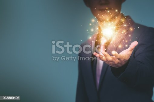 istock Abstract technology background. Global network business marketing. World wide business concept. 998889406