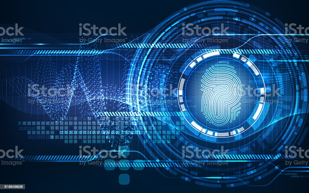 Abstract technology background.Security system concept stock photo