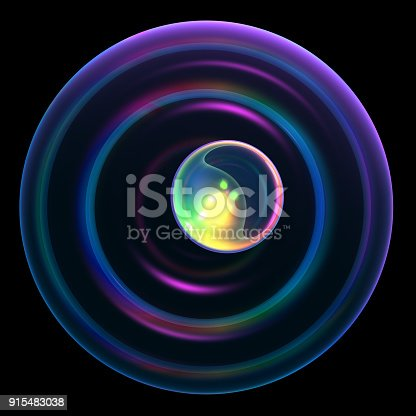 istock Abstract Technology Black Background 915483038