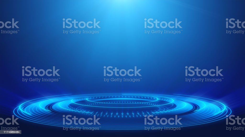Abstract Technology Blue Spotlight Backgrounds - Loopable Elements - 4K Resolution Abstract, Technology, Spotlight, Blue, Backgrounds 4K Resolution Stock Photo