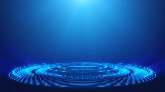 Abstract, Technology, Spotlight, Blue, Backgrounds