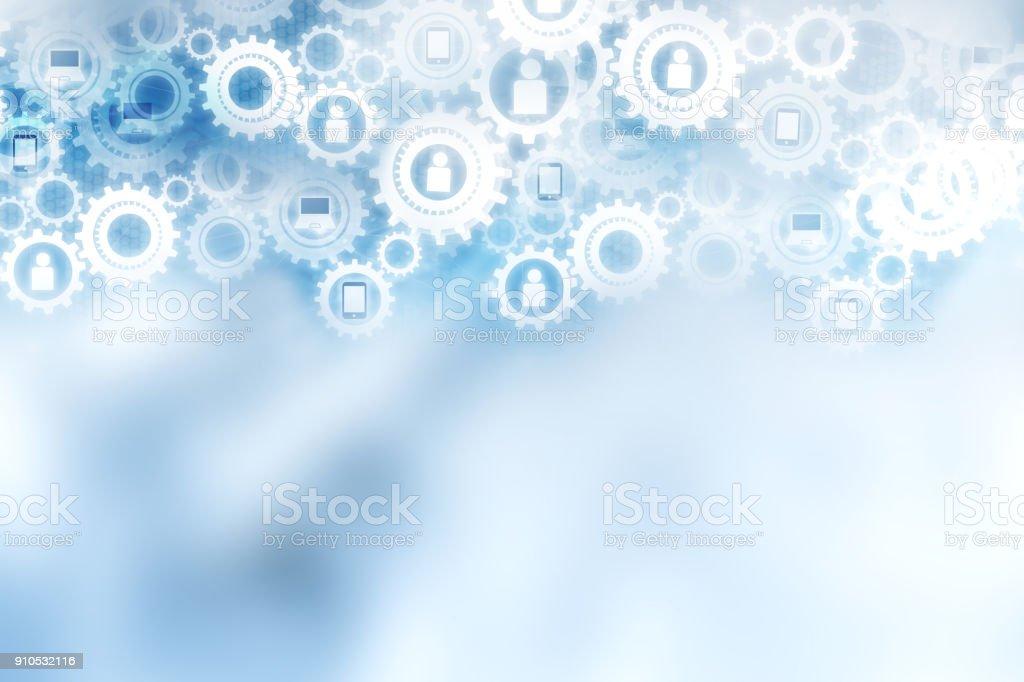 abstrakte Technologie digitale Mechanismus der Zahnräder Hintergrund, Konzept der Teamarbeit, Erfolg und Netzwerkanschluss – Foto