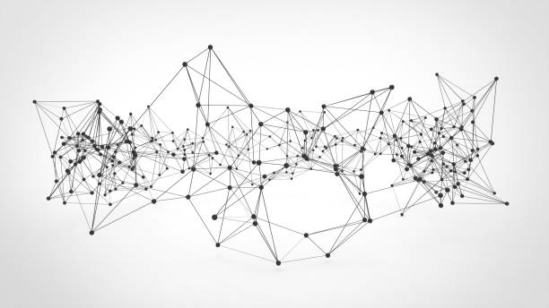 abstract technology futuristic network - plexus background. - plexus stock photos and pictures