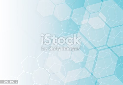 Abstract technology hexagons background. Digital illustration