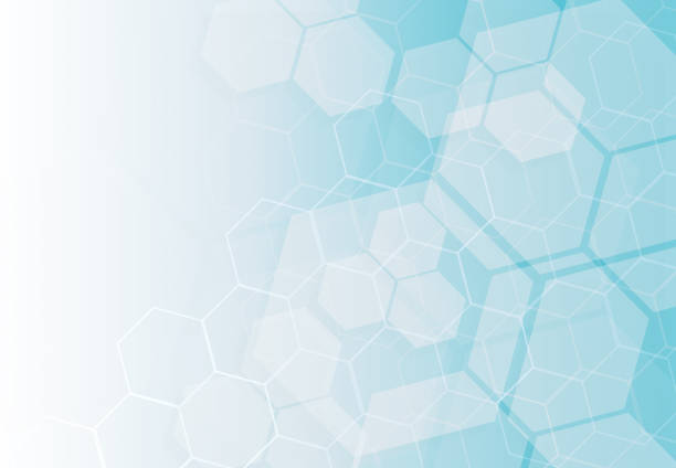 Abstract technology hexagons background stock photo