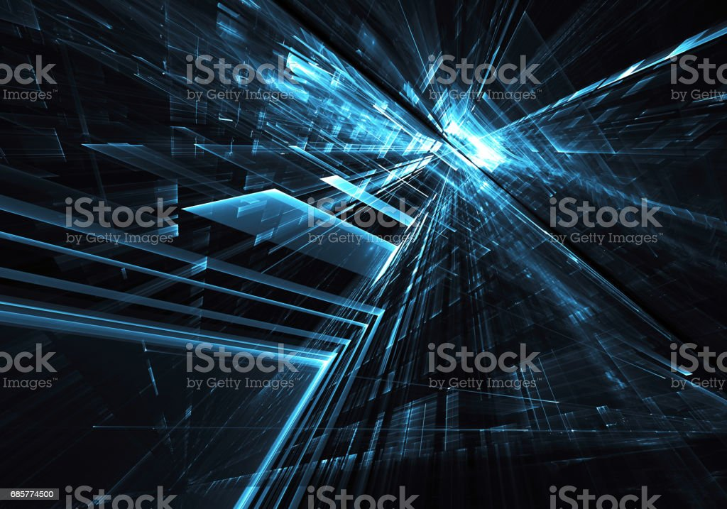Abstract technology illustration, 3D illustration royalty-free stock photo