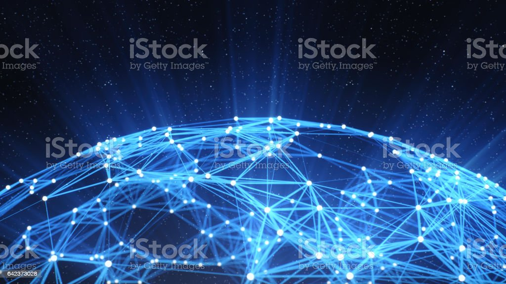 Abstract Technology Network Background stock photo