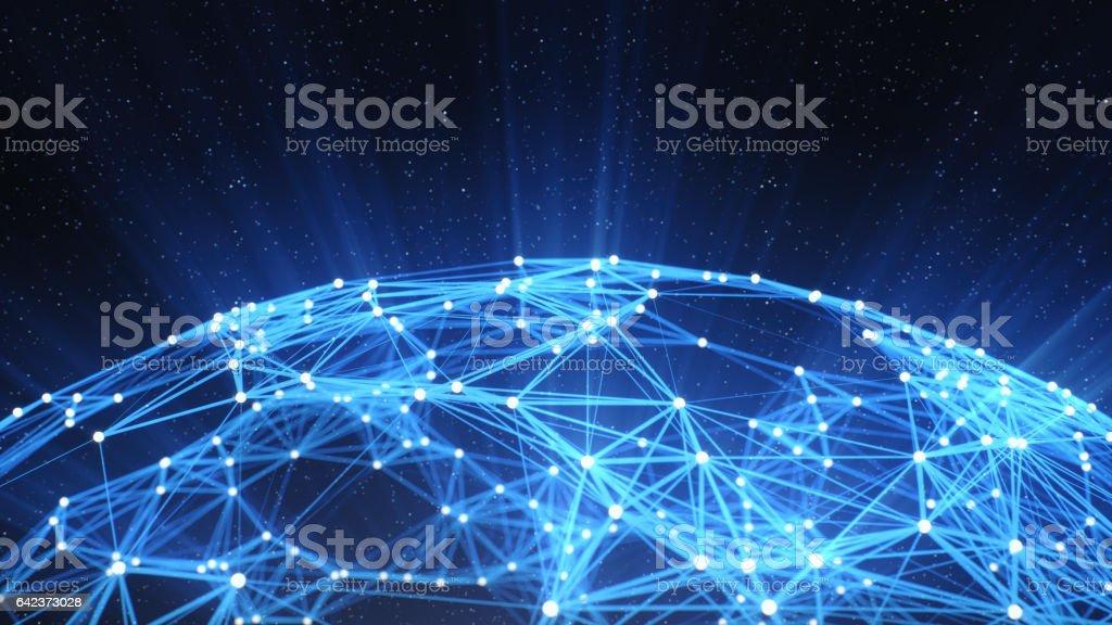 Fondo de la red de tecnología abstracta - foto de stock