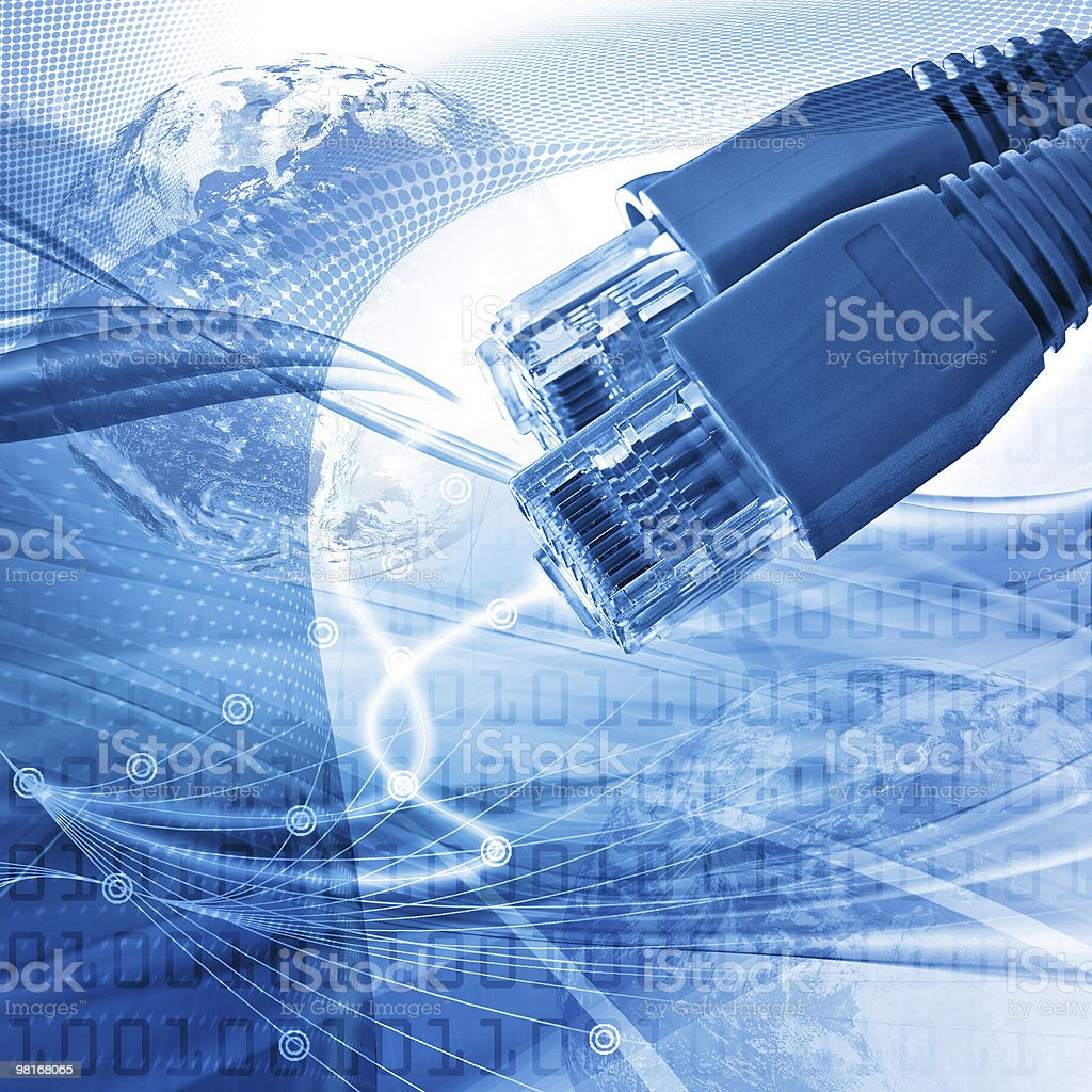 Abstract telecommunications blue illustration royalty-free stock photo