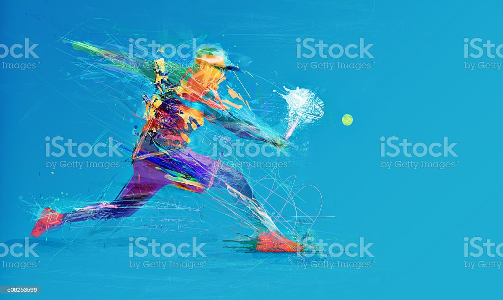 Abstrait Joueur de tennis - Photo