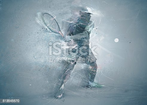 istock abstract tennis player 513545570