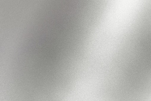 Abstract texture background, light shining on gray metal wall