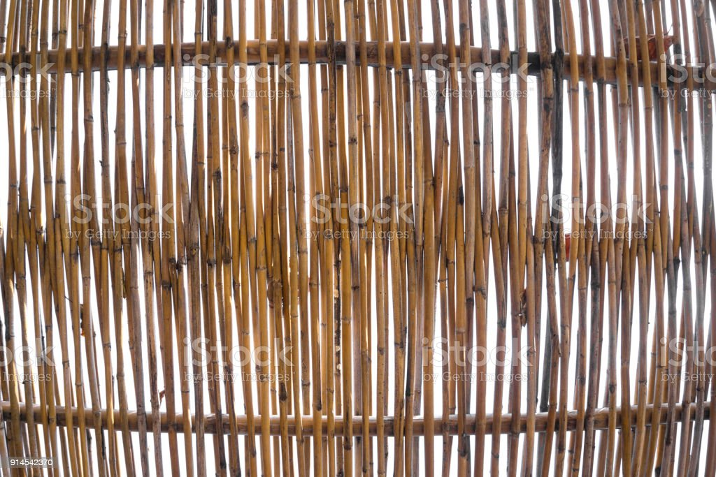 abstract texture background of a bamboo wall in the sky stock photo