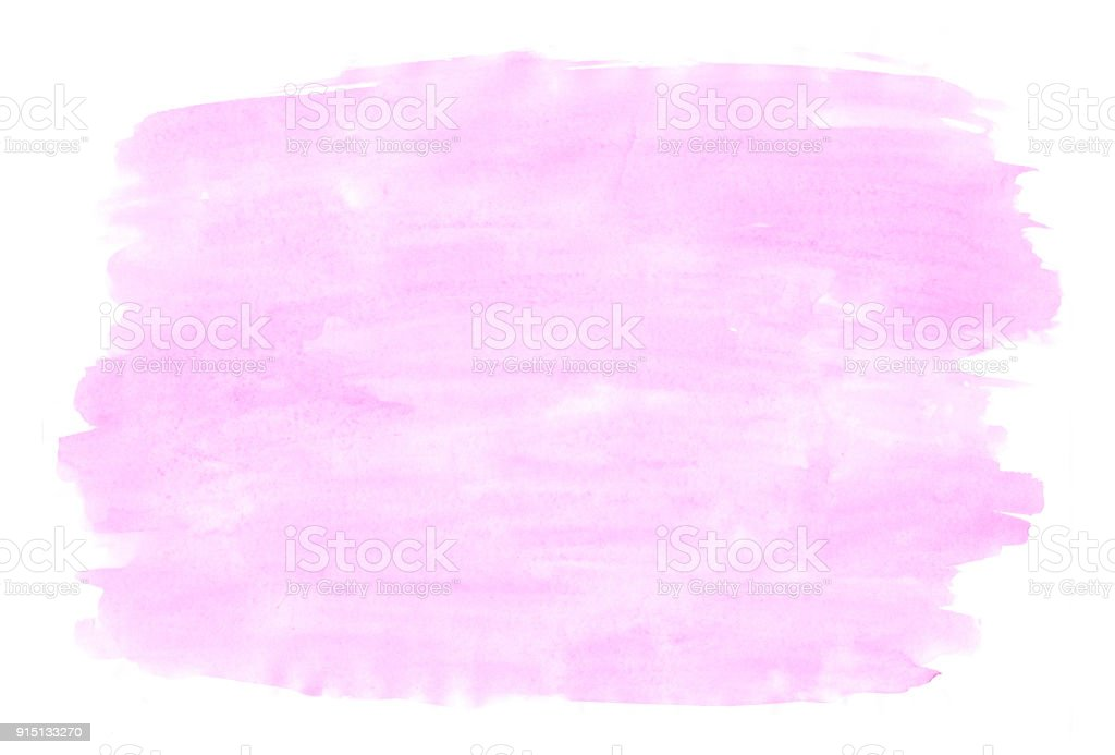 Abstract texture brush ink background pink red aquarel watercolor splash hand paint on white background stock photo