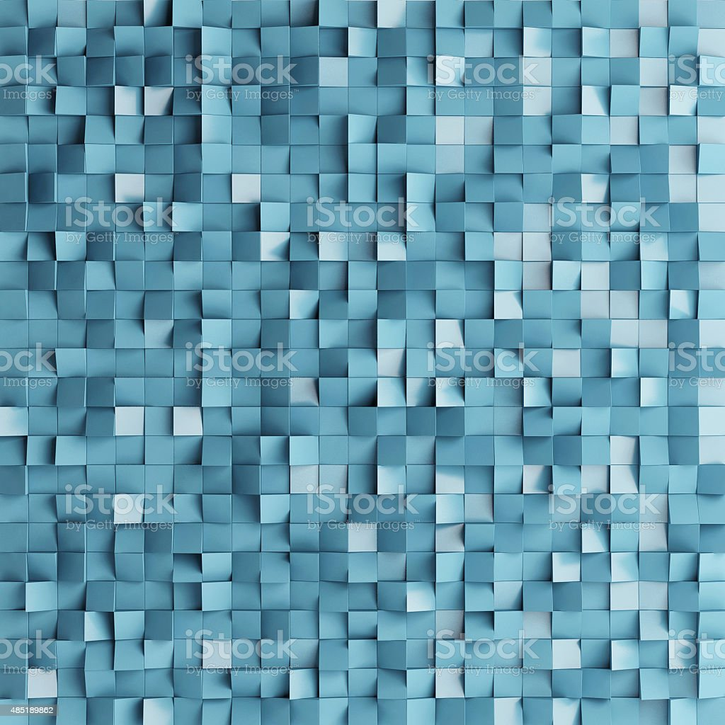 Abstract texture from blue cubes, stock photo