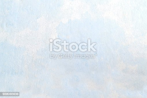 istock Abstract textured background on light blue putty 938065636