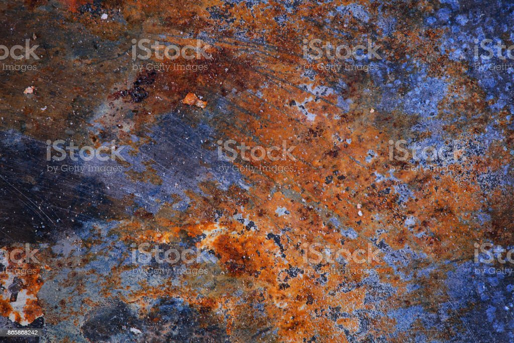 Abstract textured background with stains of rust stock photo