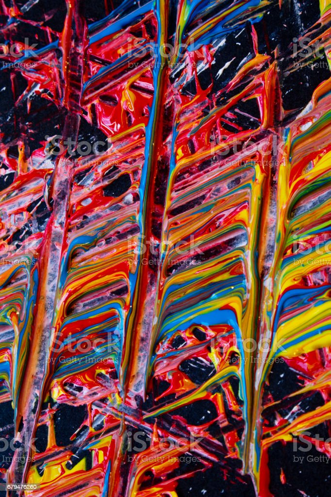 抽象的厚厚的油漆標記、 條紋和塗片 免版稅 stock photo