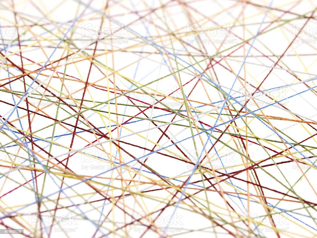Abstract threads royalty-free stock photo
