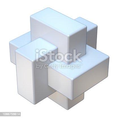 istock Abstract three cube shape 3D 1066758614