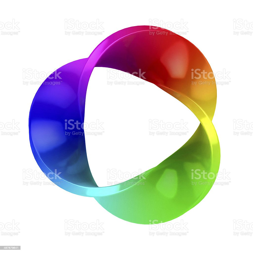 abstract three dimensional colorful shape stock photo