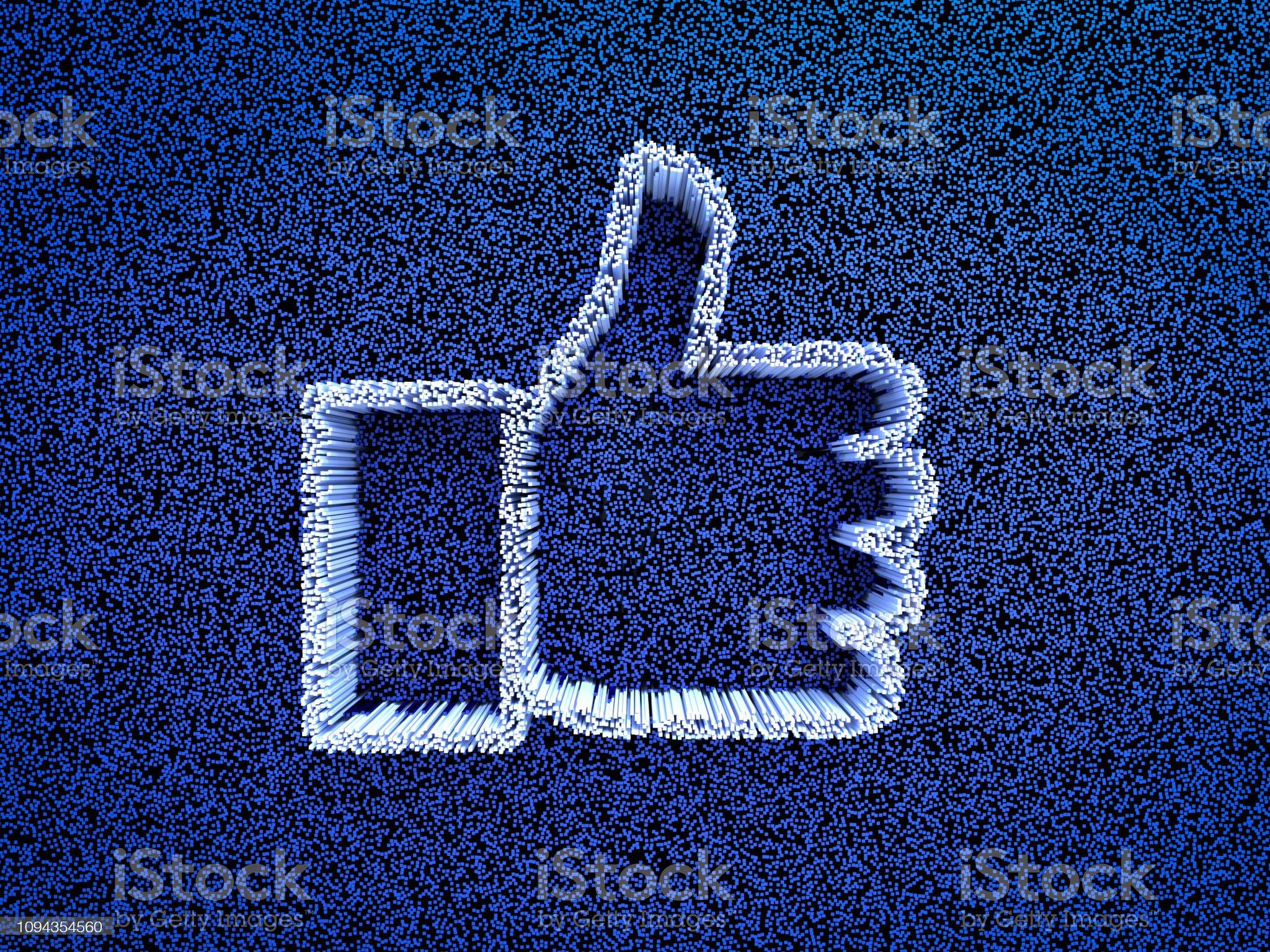 Polegares para cima do ícone de abstrato - Foto de stock de Rede social royalty-free