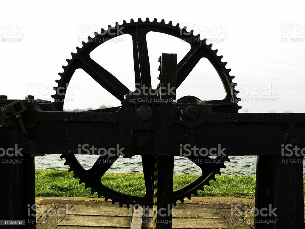 Abstract Toothed Wheel royalty-free stock photo