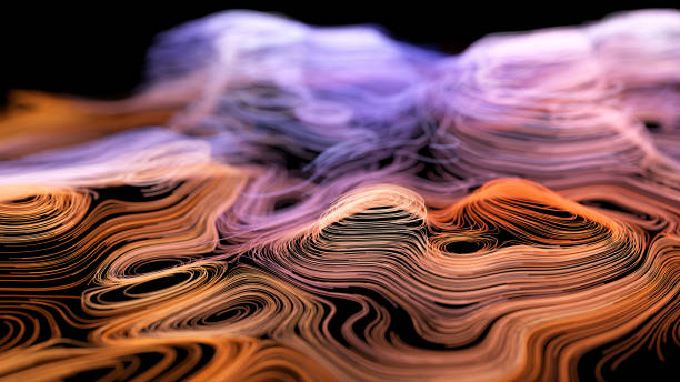 abstract topographic map - topography stock photos and pictures