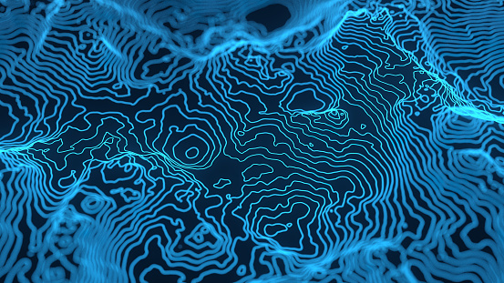 Abstract topography height map background