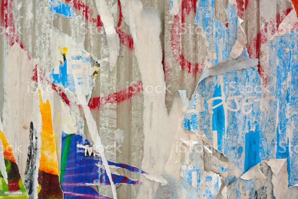 Abstract torn posters - foto stock