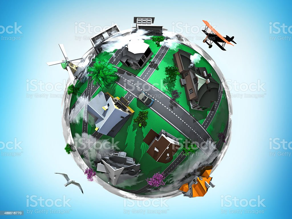 Abstract Town World stock photo