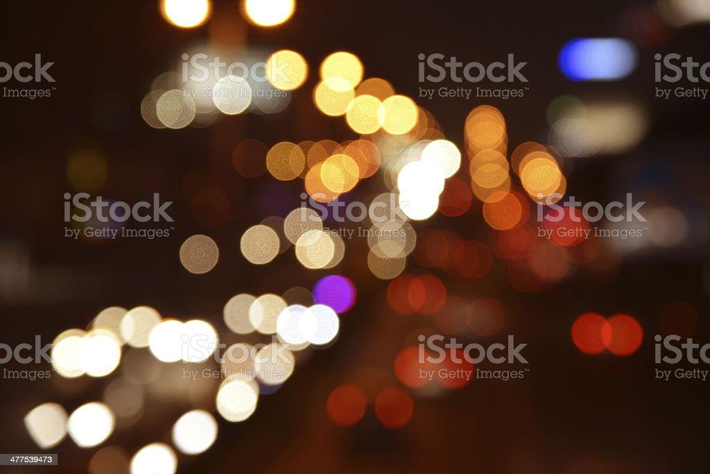 Abstract traffic light bokeh image stock photo