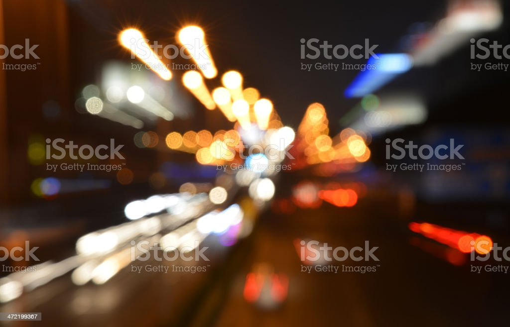 Abstract traffic light motion image stock photo