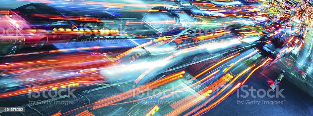 Abstract traffic stock photo