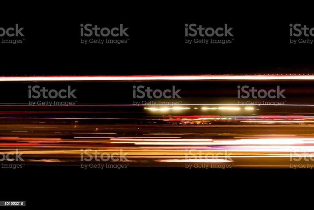 abstrakta trafikerar leden ljus på vägen suddig - Royaltyfri Abstrakt Bildbanksbilder