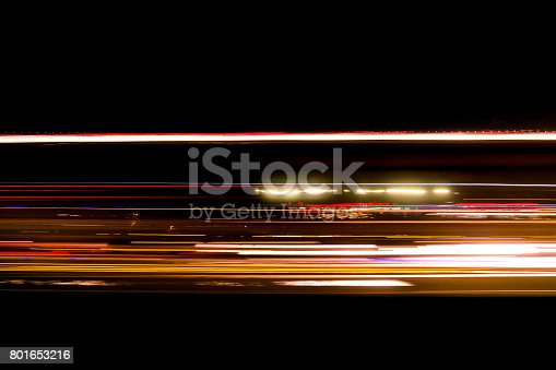 istock abstract traffic trail light on the road blurred 801653216