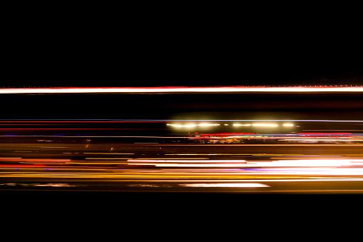 Abstrakta Trafikerar Leden Ljus På Vägen Suddig-foton och fler bilder på Abstrakt